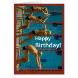 Swimming Men's Birthday Cards