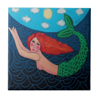 Swimming Mermaid Tile