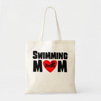 Swimming Mom Budget Tote Bag