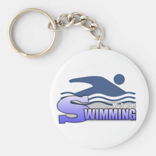 SWIMMING MySport! Basic Round Button Key Ring