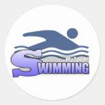 SWIMMING MySport! Classic Round Sticker