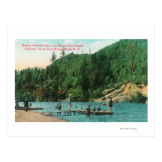 Swimming Near the Dock on the Russian River Postcard