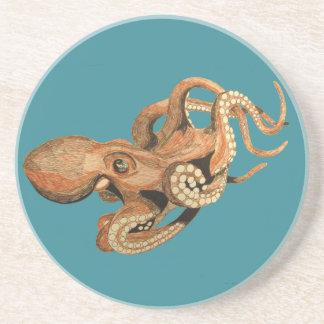 swimming octopus drinks coaster