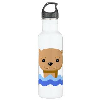 Swimming Otter. 710 Ml Water Bottle