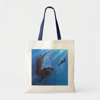 Swimming otter Bag