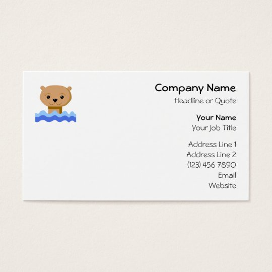 Swimming Otter. Business Card
