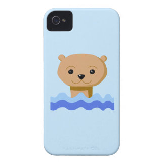 Swimming Otter iPhone 4 Cover