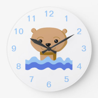 Swimming Otter. Large Clock