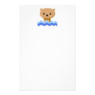 Swimming Otter. Stationery