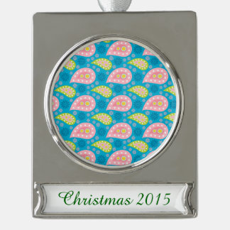 Swimming Paisley Silver Plated Banner Ornament
