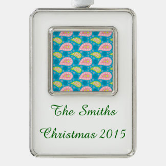 Swimming Paisley Silver Plated Framed Ornament