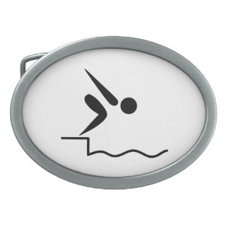 Swimming Pictogram Belt Buckle
