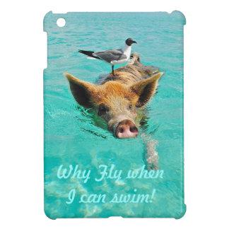Swimming pig ipad mini case
