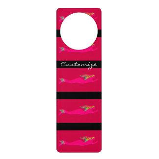 swimming pink mermaids door knob hanger
