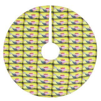 swimming pink mosaic mermaids pattern brushed polyester tree skirt