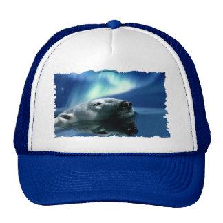 Swimming Polar Bear 2 Wildlife Art Hat