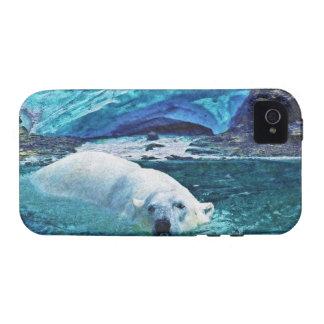 Swimming Polar Bear & Arctic Ice iPhone Case Vibe iPhone 4 Cases