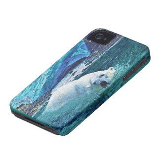 Swimming Polar Bear & Arctic Ice iPhone Case Case-Mate iPhone 4 Cases