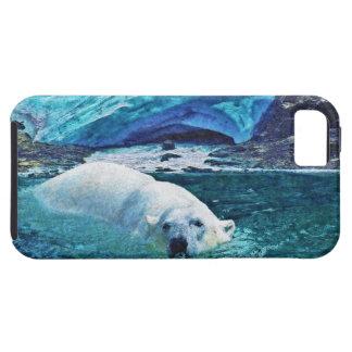 Swimming Polar Bear & Arctic Ice iPhone Case iPhone 5 Covers