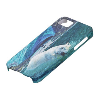 Swimming Polar Bear & Arctic Ice iPhone Case iPhone 5 Cover