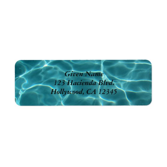 Swimming Pool Avery Label