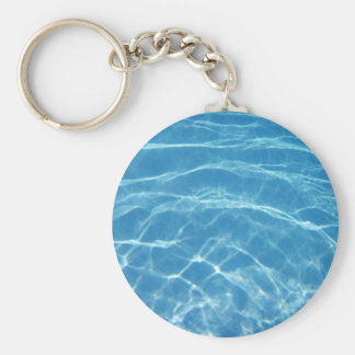 Swimming Pool Basic Round Button Key Ring