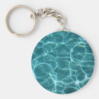 Swimming Pool Basic Round Button Key Ring