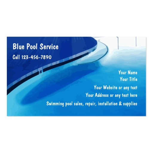 Swimming Pool Service Business Cards : Swimming pool business cards zazzle