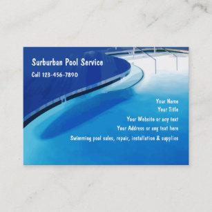 Swimming Pool Business Cards Zazzle Uk