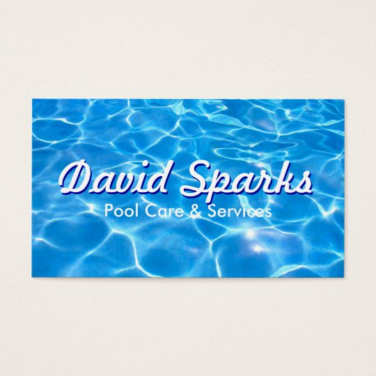 Swimming Pool Care and Services Business Card