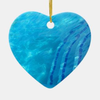 Swimming pool ceramic heart decoration