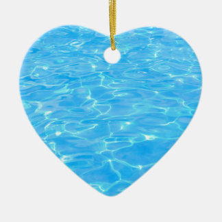 Swimming pool ceramic heart decoration
