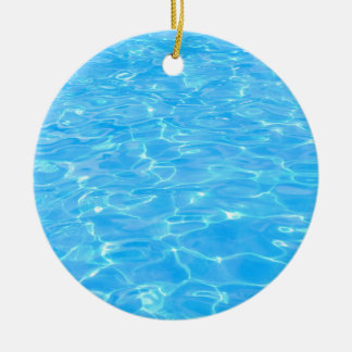 Swimming pool christmas ornament