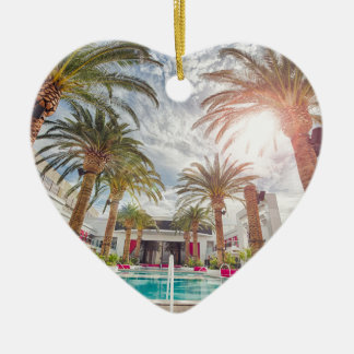 Swimming Pool Hotel Pool Summer Vacation Holiday Ceramic Heart Decoration