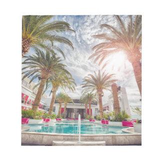 Swimming Pool Hotel Pool Summer Vacation Holiday Notepad