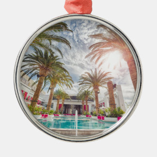 Swimming Pool Hotel Pool Summer Vacation Holiday Silver-Colored Round Decoration