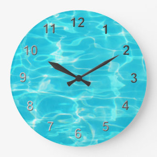 Swimming Pool. Large Clock