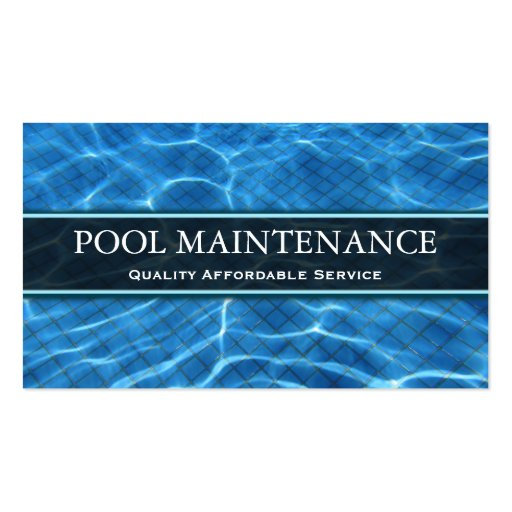 Swimming pool photo business card zazzle for Pool company business cards