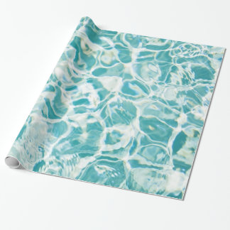 Swimming Pool Photo Gift Wrap Paper
