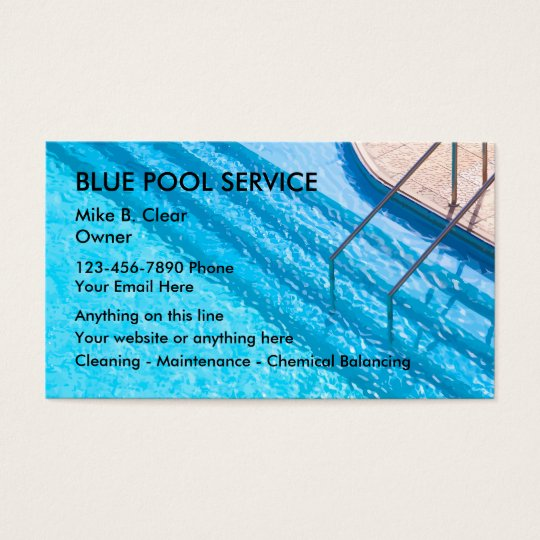 Swimming Pool Service Business Cards