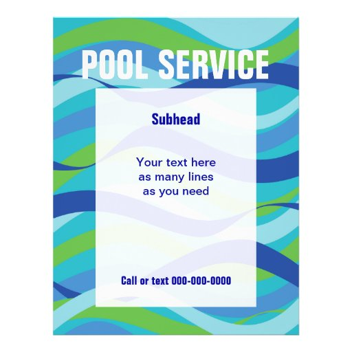 Swimming Pool Service with custom text Flyers