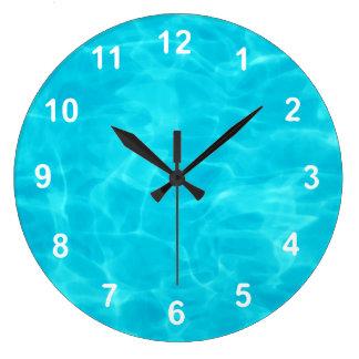 Swimming Pool. Wall Clock