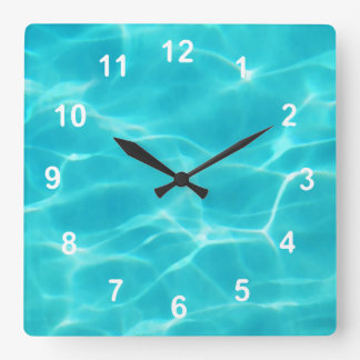 Swimming Pool. Wall Clock