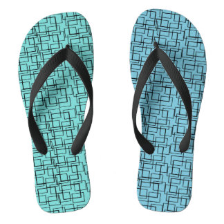 Swimming Pool Water Blue Green Black Summer Flip Flops