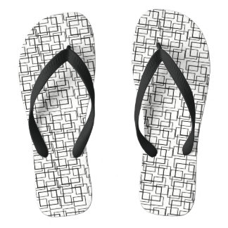 Swimming Pool Water Reflection Black White Summer Flip Flops
