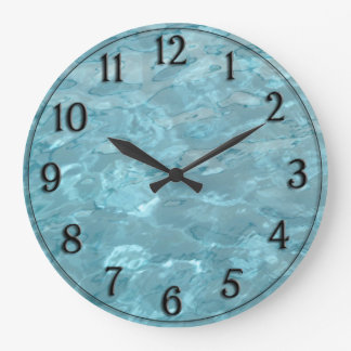 Swimming Pool Water - Summer Fun Abstract Large Clock