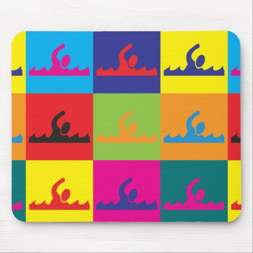 Swimming Pop Art Mouse Pads