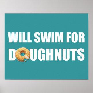 Swimming Poster, swim team, doughnuts