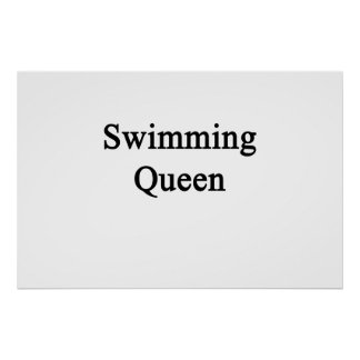 Swimming Queen Poster