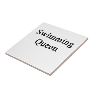 Swimming Queen Small Square Tile